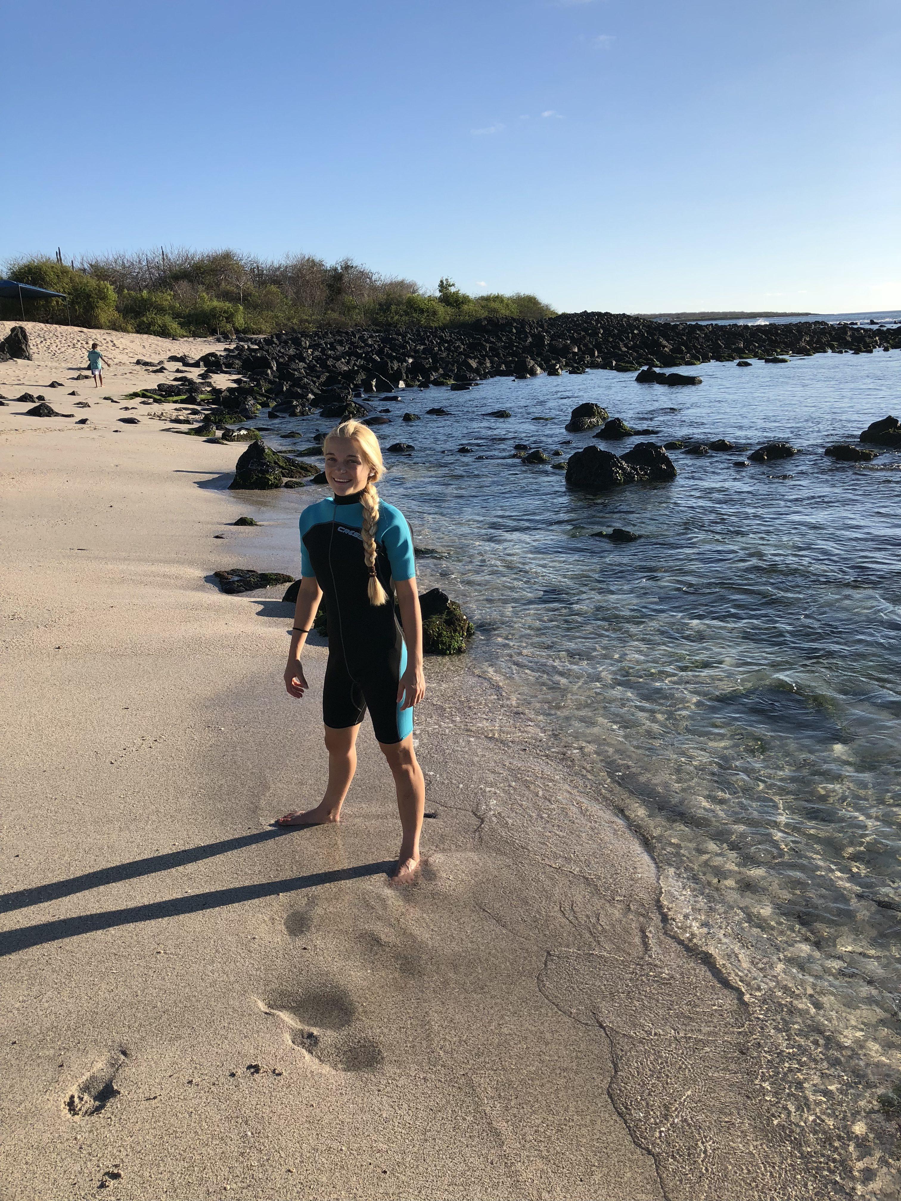 Schnorcheln am Strand